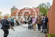 Übergabe Stadtinformation und Einweihung der Foto Tafeln am Schlossberg Harzgerode